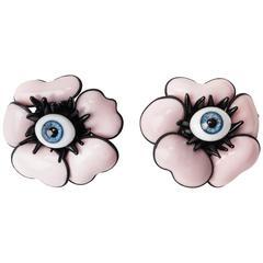 MWLC Surrealist Pink Poppy Earrings