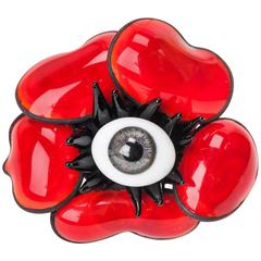 MWLC Surrealist Amythest Poppy Ring