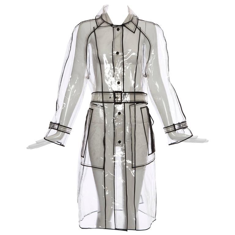 Prada Transparent PVC Rain Coat, Autumn - Winter 2002 - 2003 For Sale