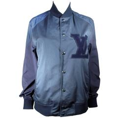 Louis Vuitton Baseball Jacket - Medium - 48 - Blue Monogram Logo Bomber
