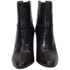 Jimmy Choo Brown Leather Heeled Booties