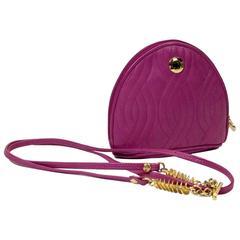 Fendi Vintage Fuschia Leather Crossbody Bag