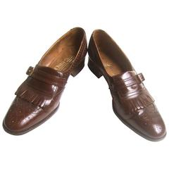 Church's London Classic Men's Brown Leather Brogue Loafers UK Size 9 AA