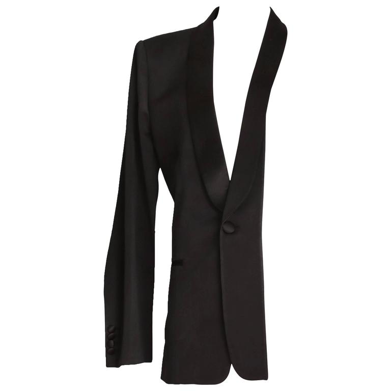 Martin Margiela Black Deconstructed Tuxedo Jacket For Sale