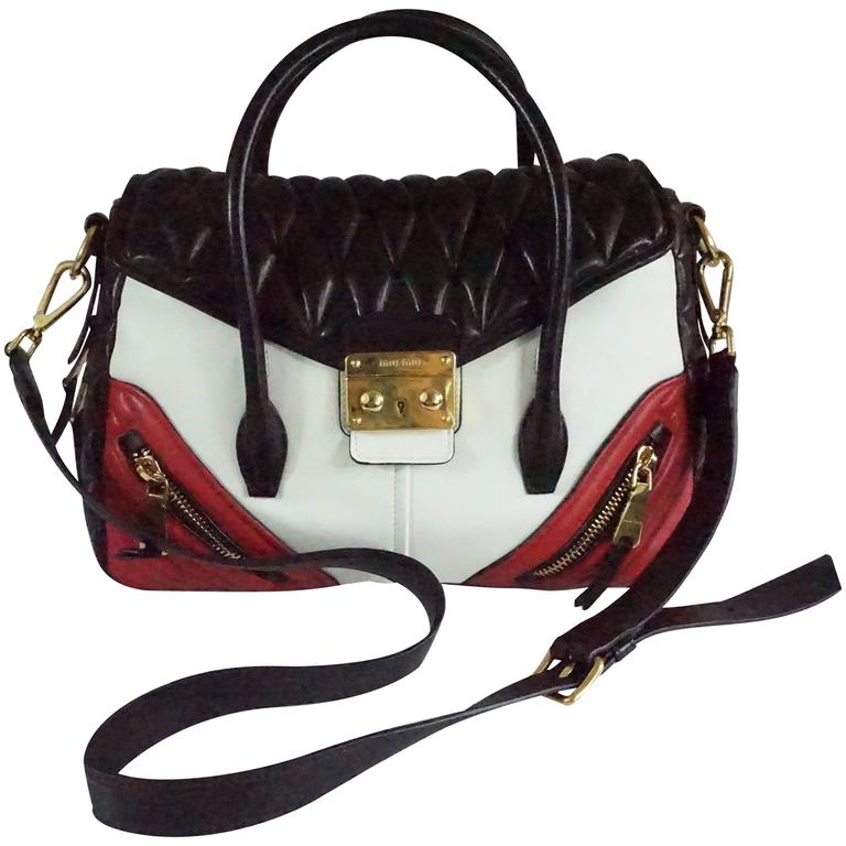 Miu Miu Brown Gathered Leather Shoulder Bag For Sale at 1stdibs 9c9b1566ef119