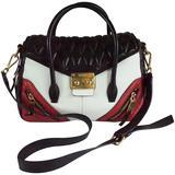 Miu Miu Black/White/Red Quilted Handbag - GHW