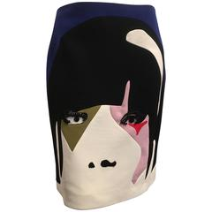 Prada Spring 2014 Face Print Skirt