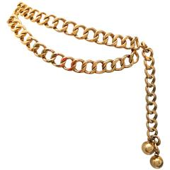 Chanel Gold Tone Metal Chain Belt