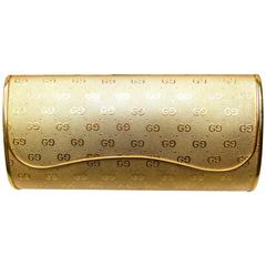 Gucci Opulent Gilt Metal Evening Clutch Bag c 1970s