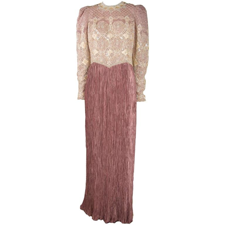 Mary McFadden Couture Evening Gown - Fortuny