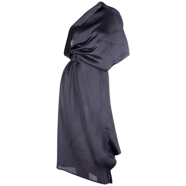 Issey Miyake Pleated One Shouldered Dress 1