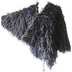 Issey Miyake 1980s Mixed Yarn Cocoon Jacket