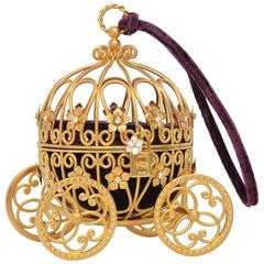 Dolce & Gabbana Cinderella Carriage Ltd Ed Handbag Minaudière Retailed  $15,000