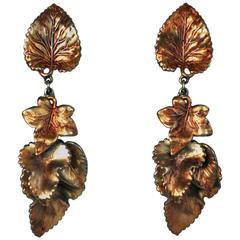 Schiaparelli Pagan Leaf Earrings
