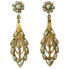 Miriam Haskell Long Wheat Earrings