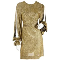 Betsey Johnson for Paraphernalia Rare Gold Dress