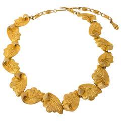 50s Elsa schiaparelli Leaf Necklace
