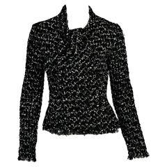 Black Chanel Tweed Jacket