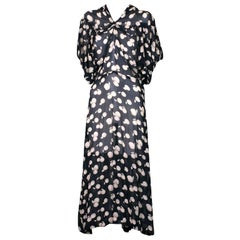 Deco Shadow Print Chiffon Cherries Dress