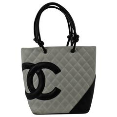 Chanel Cambon White Leather Bag