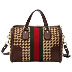 RARE Gucci 70's Boston Web Monogram Bag