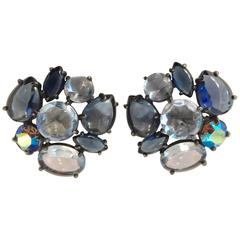 Magnificent Blues Schiaparelli Clip Earrings