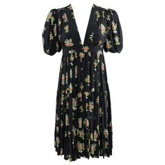 1970's Vintage Ossie Clark for Radley with Celia Birtwell Print Boho Dress