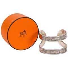 Hermès Silver Tuareg Cuff Bracelet