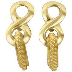 Nice pair of Yves saint Laurent Golden Earrings