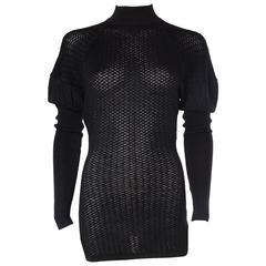 1980s Alaia Open Knit Micro-Mini Body-Con Dress