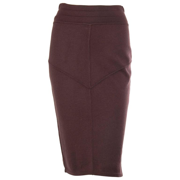 1980s Alaia Fitted Pencil Skirt