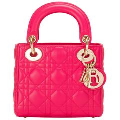 Dior Hot Pink Lady Dior Mini Bag