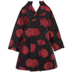 Comme des Garcons Floral Jacquard Swing Coat, Autumn - Winter 2012