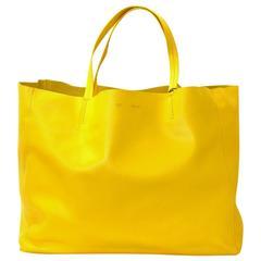 Celine Yellow Cabas Tote Bag- Sun Lambskin
