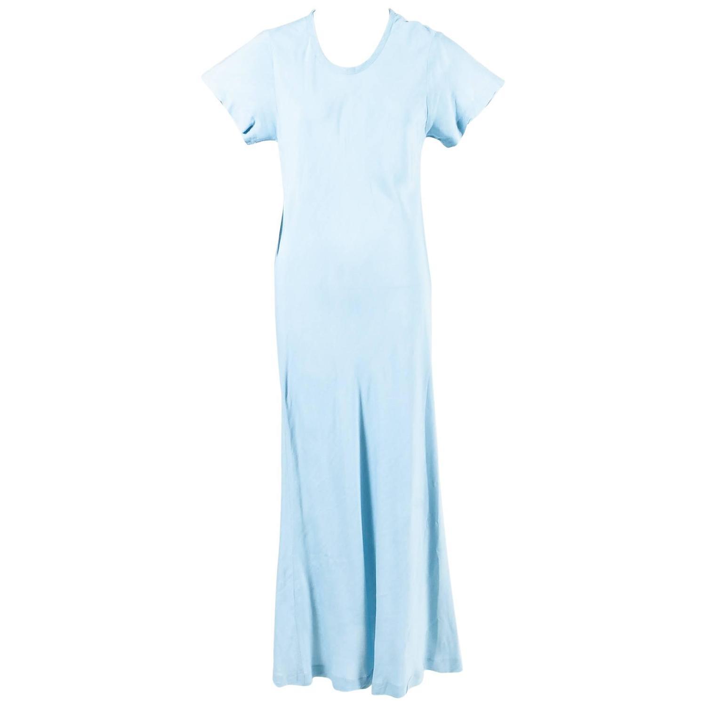 me des Garcons Baby Blue Short Sleeve Scoop Neck Maxi