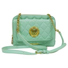 Love Moschino Mint Green Quilted Chain Strap Soulder Bag