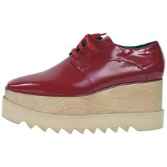 STELLA McCARTNEY Elyse Platform Derby Red Shoes