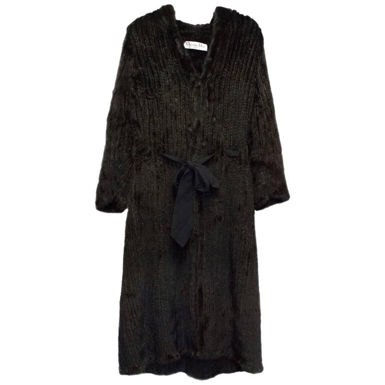 Christian Dior Black Fur Coat