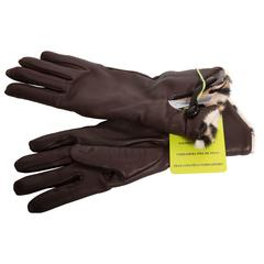 Fur Lined Etro Brown Lambskin Gloves