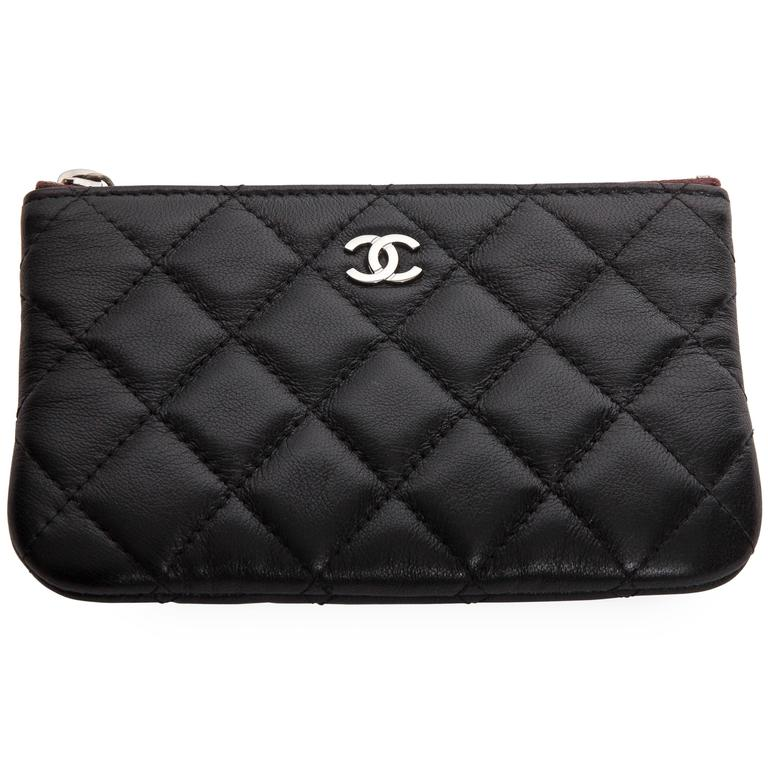 Chanel Top Zip Makeup Bag For