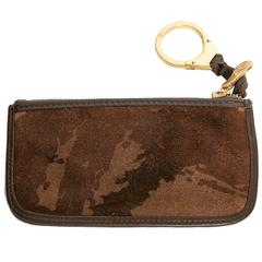 Bottega Veneta Camouflage Suede Key Ring / Credit Card Holder