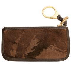 Bottega Veneta Camouflage Suede Key Ring / Credit Card Holder