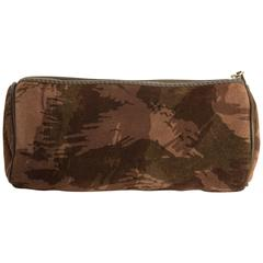 Bottega Veneta Camouflage Suede Makeup Bag
