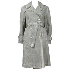 Martin Margiela Silver Painted Trench