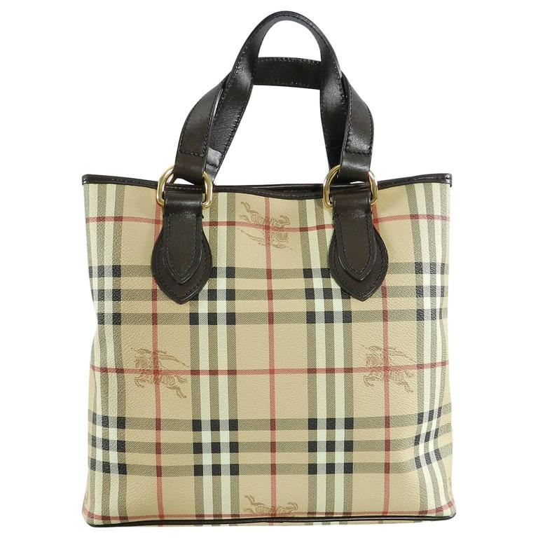 4ab67a1436 Burberry Haymarket Check Chester Tote Bag at 1stdibs