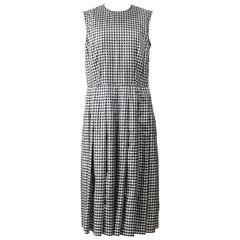 COMME des GARCONS Black and White Gingham Dress