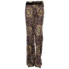 Gianfranco Ferre Fully Embroidered Trousers