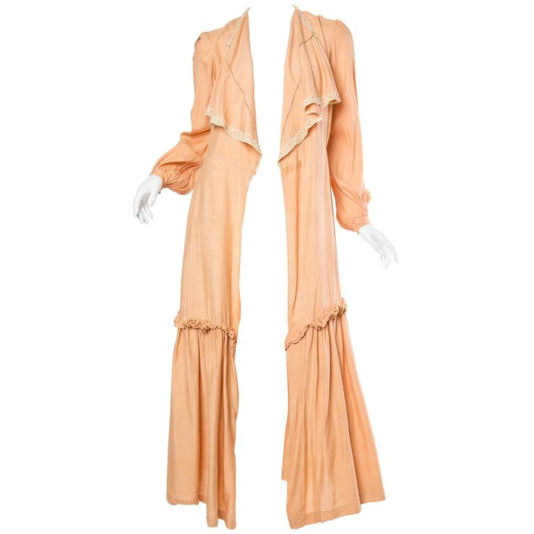 1930s Silk Duster Coat For Sale