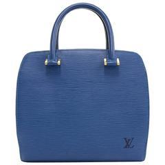 Louis Vuitton Pont Neuf Blue Epi Leather Handbag