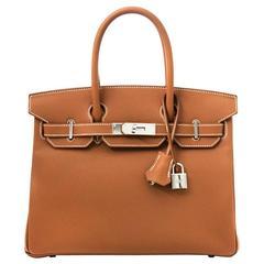 Brand New Hermes Birkin 30 Togo Gold PHW